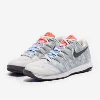 Sepatu Tenis Nike Womens Air Zoom Vapor X HC - Platinum/Thunder Grey/L