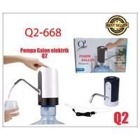Pompa Air Galon Aqua Listrik Elektrik Q2-668 USB Charger / dispenser