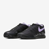 Sepatu Tenis Nike Womens Air Zoom Vapor X Glove Clay - Black/Purple Ag