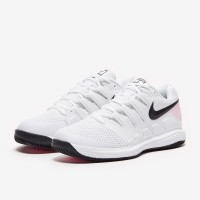 Sepatu Tenis Nike Womens Air Zoom Vapor X HC - White/Black/Pink Foam