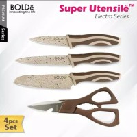 pisau set BOLDe 3+1 gunting original Pisau dapur