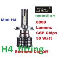 K6 H4 Hi Low Headlamp chips CSP 50W Lampu Led bohlam lampu Mobil H4