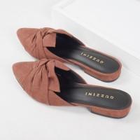 Guzzini FB 186 Coklat - Sepatu Sandal Mules Wanita