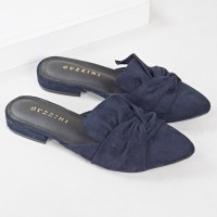 Guzzini FB 186 Dark Navy - Sepatu Sandal Mules Wanita