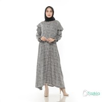 Gamis Wanita Original | Fitriya Dress Abu | Tazkia Hijab Store