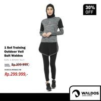 Setelan Baju Training Outdoor Waldos Hijab Muslim Senam Olahraga PROMO