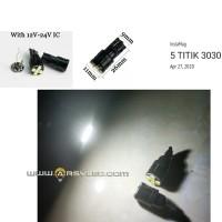 lampu led plafon mobil kabin T10 LED 3030 Black Metal Case 12v 24v