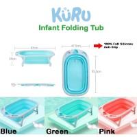 Bak Mandi Bayi Lipat Foldable Silicone   Infant Folding Bath Tub KURU