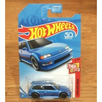 Diecast Hot Wheels 90 Honda Civic EF Blue KMart Edition US Card K Mart