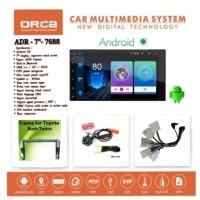 "Head Unit Double din Android TERIOS atau RUSH Android 7"" ORCA ADR-7688"
