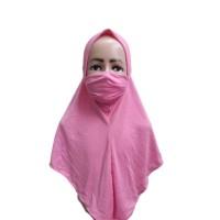 Jilbab Corona Kerudung Cadar Anti Corona Masker 2 in 1 Anak Bayi J14