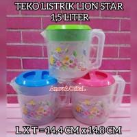 WATER JUG 1,5 Liter. TEKO LISTRIK 1.5 LT. ESKAN. LION STAR. KECIL