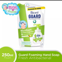TERMURAH! BIORE HAND SOAP ANTIBACTERIAL REFILL POUCH FRESH CLEAN 250ml