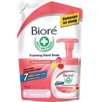 TERMURAH! BIORE HAND SOAP ANTIBACTERIAL REFILL POUCH FRUIT CLEAN 250ml