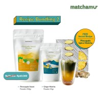 Matchamu Recipe Bundling Package 2 : Pineapple Sweet + Ginger Matcha