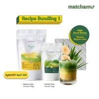 Matchamu Recipe Bundling Package 1 : Banana Latte + Pandan Powder