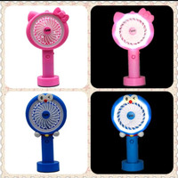 Kipas Angin Lampu LED Hand mini Fan USB Portabel Karakter