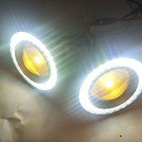 Lampu LED Fog Lamp Mobil FogLamp Angel Eyes Projector Universal