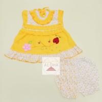 Baju Setelan Bayi Perempuan Kumbang Bunga Warna