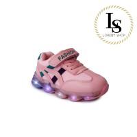 Sepatu anak LED Asics Onitsuka / Sneakers Premium / Sport lampu import