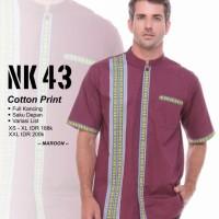 Original KOKO PREMIUM NIBRAS NK 43 MAROON TOSCA Cotton print