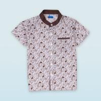 Moosca Kidswear Rafa Shirt | Kemeja Koko Anak Lengan Pendek | Coklat - Size M
