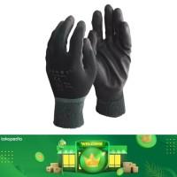 Sarung Tangan PU Palm Coated Mekanik Industri Hitam