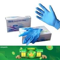 COD Sarung Tangan Nitrile Safe Gloves Latex Karet Disposable Medis