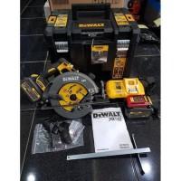 Mesin Potong Kayu Circular Cordless 7 inch 184mm 54V DEWALT DCS 575 T2