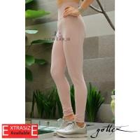 Legging olahraga wanita (Fitness, Yoga, Zumba)Gottex Pocket [Peach]