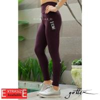 Legging olahraga wanita (Fitness, Yoga, Zumba)Gottex Pocket [Wine]