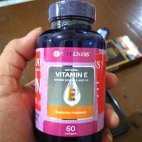 Vitamin E water soluble 400 iu wellness 60 caps