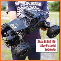 Mobil Remot RC Car Rock Crawler 1:16 Off Road 2.4GHz 4WD Alloy Metal 1 - RC BLACK