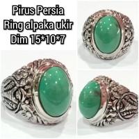 Cincin batu akik permata pirus persia 15107