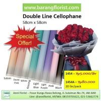 Double Line Cellophane 1 lbr (1454), kertas bunga, aksesoris bunga