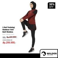 1 Set Baju Training Outdoor Waldos Hijab Muslim Senam PROMO KHUSUS