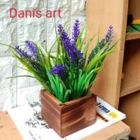 Buket Lavender/ tanaman palsu/ lavender plastik/ Bunga Lavender