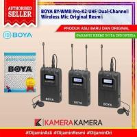 BOYA BY-WM8 Pro-K2 UHF Dual-Channel Wireless Mic Original Resmi
