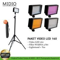 Paket LED 160 Taff Video Lighting - Lampu Studio Foto Plus LightStand