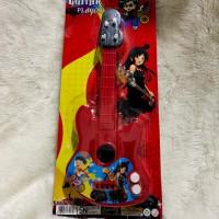 mainan anak gitar kecil snar - Merah