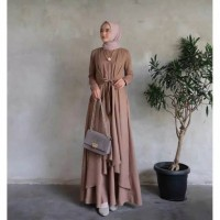 Alena dress maxy dress gamis muslim wanita
