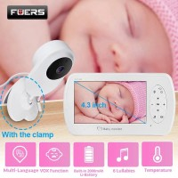 4.3 inch Video Baby Monitor with Camera Two-way Audio Nanny Baby