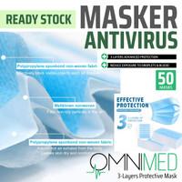 Masker 3 Layer Anti Virus non Kain Tenaga Medis Bedah Earloop Omnimed