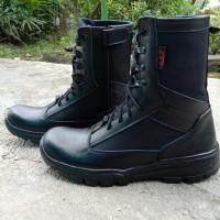 sepatu pdl safety kulit asli model jatah polri terbaru
