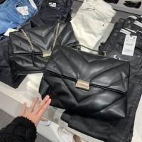 Tas Zara Quilted Sling bag ori Black Only