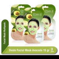 Ovale facial mask avocado 15gr 3pc