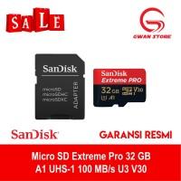 MicroSD SanDisk Extreme Pro microSDHC UHS-I 32Gb 100Mbps A1 U3 V30