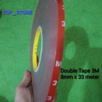Double Tape 3M 8mm x 33 meter murah meriah