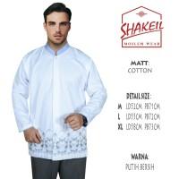 Baju Koko Putih Bersih Lengan panjang 054 - Putih, M