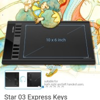 XP pen star 03 Pro V2 drawing pen tablet bonus lengkap garansi 2 tahun